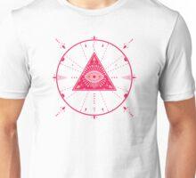 Evil Eye Mandala – Pink Unisex T-Shirt