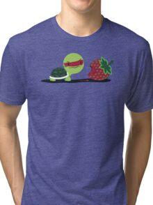 Strawberry Turtle Tri-blend T-Shirt