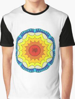 Chan Symbol Colour Flower Graphic T-Shirt