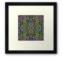 Neon Worm Framed Print