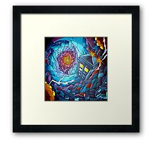 Tardis stained glass style  Framed Print