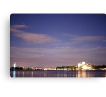Canberra by night Canvas Print