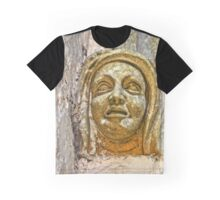 Middle Ages stone artwork. Seen at a church Graphic T-Shirt