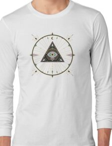 Evil Eye Mandala – Black Long Sleeve T-Shirt