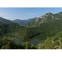 Green, Green and Green - the Water, the Mountains, the Trees Photographic Print