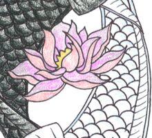 Yin Yang Koi Sticker