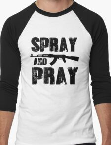 Spray and pray Men's Baseball ¾ T-Shirt