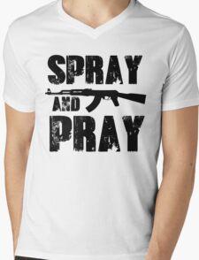 Spray and pray Mens V-Neck T-Shirt