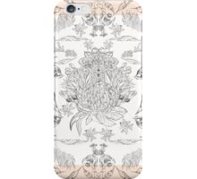 Australian bird and native flora sketches iPhone Case/Skin