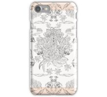 Australian bird and native flora sketches iPhone Case/Skin