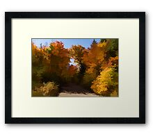 Sunny, Warm and Colorful - Autumn Impressions Framed Print