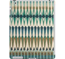 Tribal, Green Hue Pattern, Geometric iPad Case/Skin