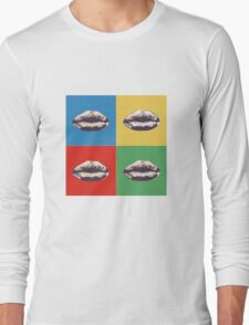 Lips Andy Warhol sticker Long Sleeve T-Shirt