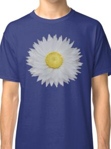 White Daisy with Yellow Center Classic T-Shirt