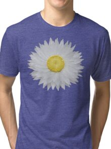 White Daisy with Yellow Center Tri-blend T-Shirt