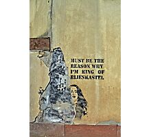 The King of Blieskastel in Germany... Wall Art Graffiti Photographic Print