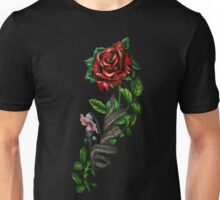 The wall, the snake, the rose  Unisex T-Shirt