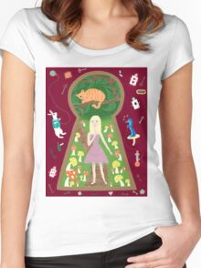 Alice (Fairy Tale Fashion Series #4) Women's Fitted Scoop T-Shirt