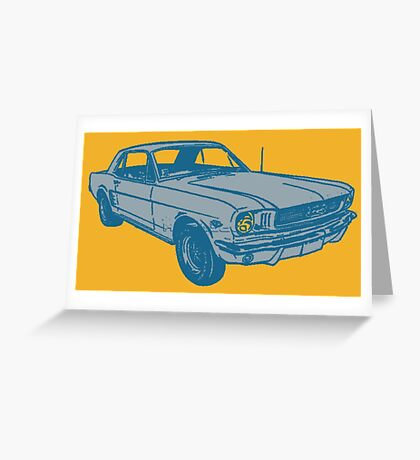 MUSCLE CAR Greeting Card