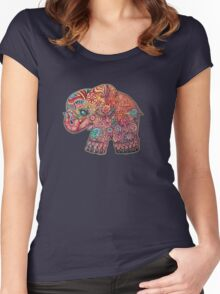 Vintage Elephant Women's Fitted Scoop T-Shirt