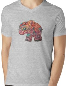 Vintage Elephant Mens V-Neck T-Shirt