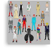Bowie Scattered Fashion Canvas Print