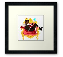 your highness // black panther Framed Print