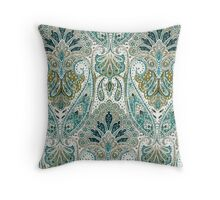 Tapestry, Green Hue, Floral, Pattern Throw Pillow