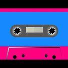 Retro Vintage Cassette Tape - Cool Pop Music T Shirt Prints Stickers by Denis Marsili