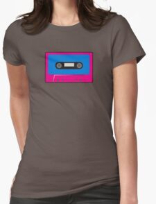 Retro Vintage Cassette Tape - Cool Pop Music T Shirt Prints Stickers Womens Fitted T-Shirt