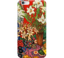 Lilies, Heliconias & Tropical Fruit iPhone Case/Skin