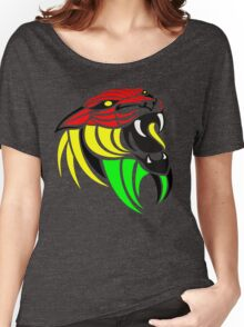 Lion Reggae Colors Cool T Shirts Prints and Stickers Women's Relaxed Fit T-Shirt