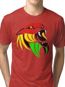 Lion Reggae Flag Colors Tri-blend T-Shirt