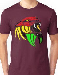Lion Reggae Flag Colors Unisex T-Shirt