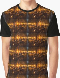 Amsterdam Canal in Golden Yellow Graphic T-Shirt