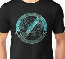 NO JUSTICE WARRIORS - destroyed aqua Unisex T-Shirt