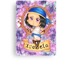 Chibi Isabela in Purple Canvas Print