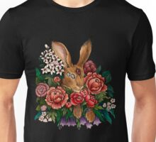 Flower Rabbit Unisex T-Shirt