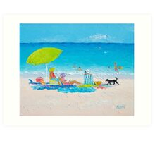Beach painting - Lazy Beach Day Art Print
