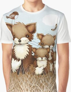Little Foxes Graphic T-Shirt