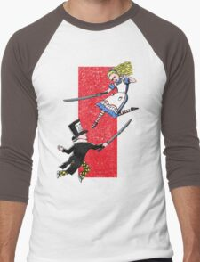 Alice vs. The Mad Hatter Men's Baseball ¾ T-Shirt