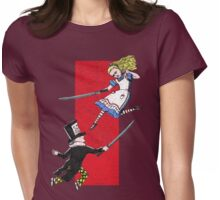 Alice vs. The Mad Hatter Womens Fitted T-Shirt
