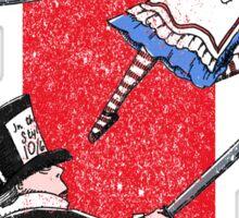 Alice vs. The Mad Hatter Sticker
