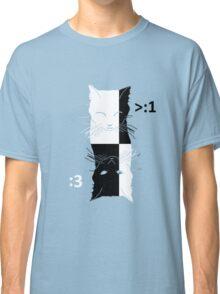 CAT YING YANG happy sad Classic T-Shirt
