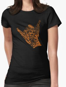 Shaka Sign Hang Loose Womens Fitted T-Shirt