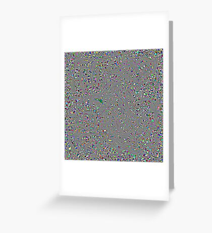 Maze On Acid Greeting Card