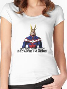 All Might anime manga shirt Women's Fitted Scoop T-Shirt