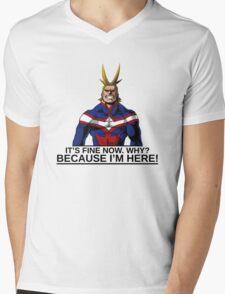 All Might anime manga shirt Mens V-Neck T-Shirt