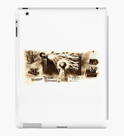 Vintage Tesla Illustration iPad Case/Skin