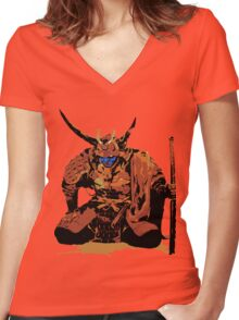 Old Samurai Women's Fitted V-Neck T-Shirt